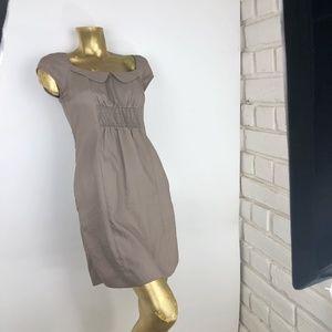 Anthropologie Womens 2 XS Beige Dress Pockets